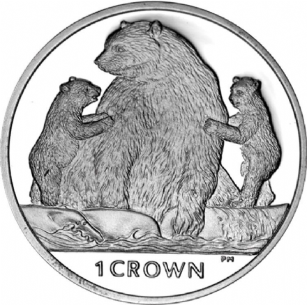 2013 Isle of Man Kermode Bear Crown